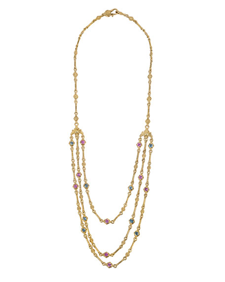 18k Yellow Gold Triple-Layer Necklace