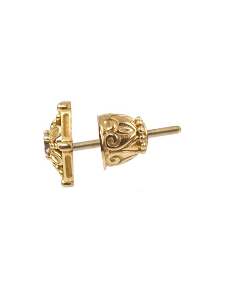 18k Brown Diamond Stud Earrings