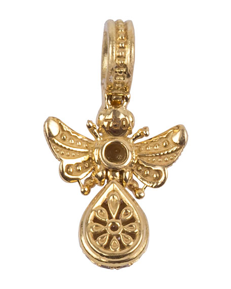 18k Brown Diamond Bee Pendant