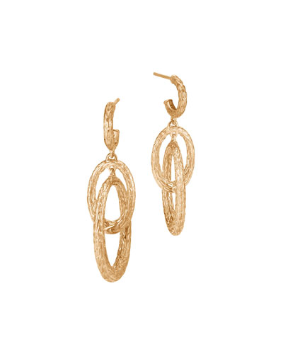 Classic Chain 18K Interlocked Drop Earrings