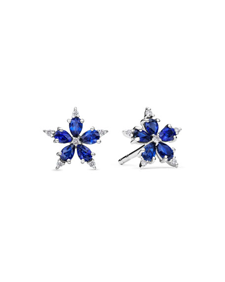 Mini Stellanise Sapphire & Diamond Stud Earrings