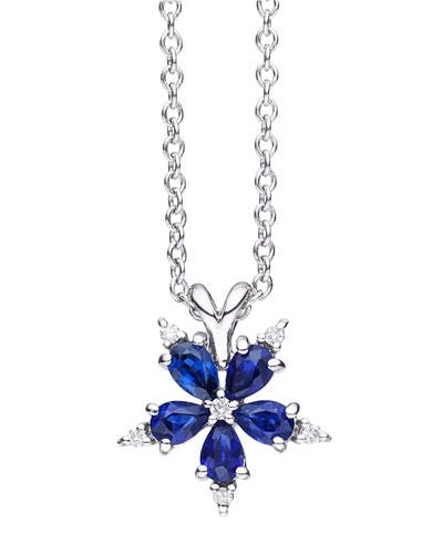 Mini Stellanise Sapphire & Diamond Pendant Necklace