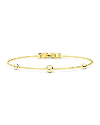 Unity Wire Sphere Bead Bracelet in 18K Gold