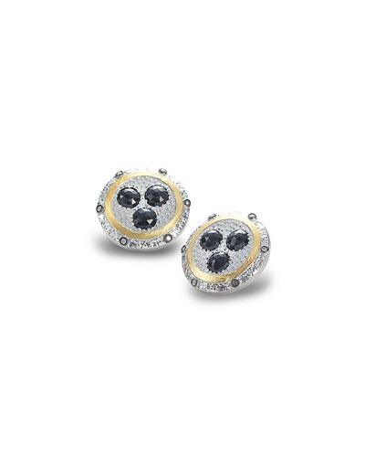 Opera Spinel & Diamond Button Earrings
