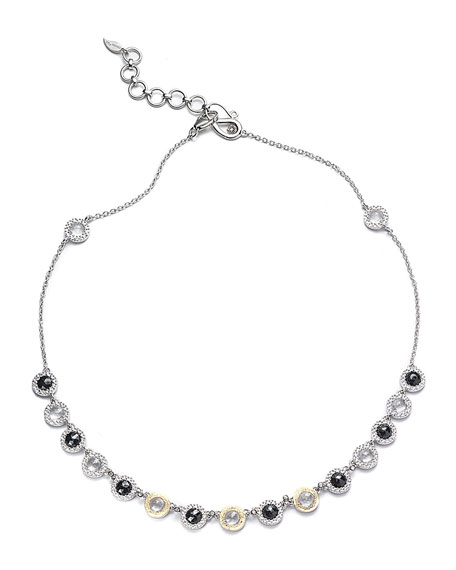 Opera Black Spinel & Diamond Necklace, 16""