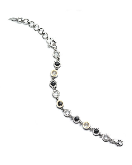 COOMI Opera Sterling Silver Bracelet with Black Spinel