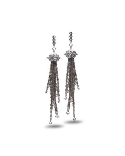 Affinity Smoky Quartz Tassel Earrings with Diamonds