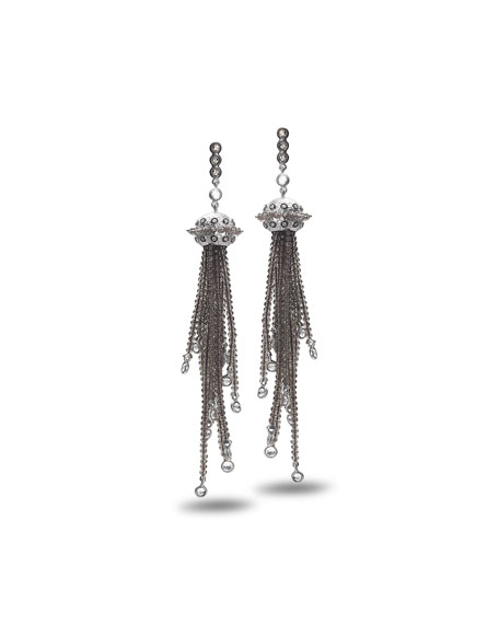 COOMI Affinity Smoky Quartz Tassel Earrings with Diamonds
