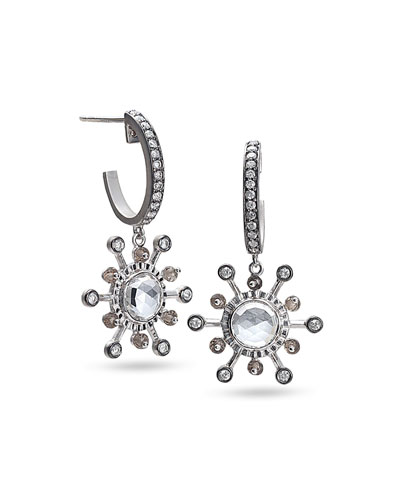 Affinity Smoky Quartz & Diamond Earrings
