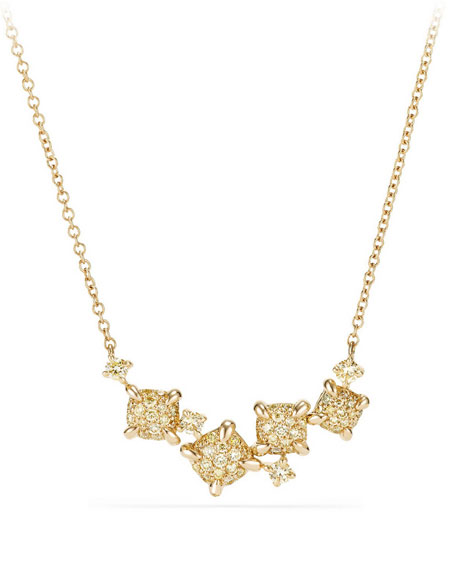 Petite Châtelaine Necklace with Yellow Diamonds
