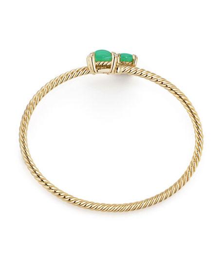 Medium Châtelaine 18K Gold Bypass Bracelet with Chrysoprase & Diamonds