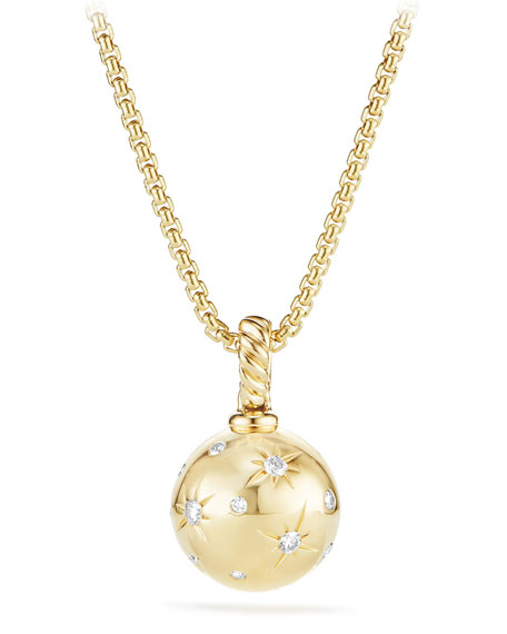 Solari 18k Gold Diamond Pendant Enhancer