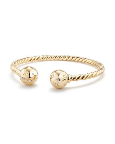 Solari 18K Gold Open Cuff Bracelet with Diamonds