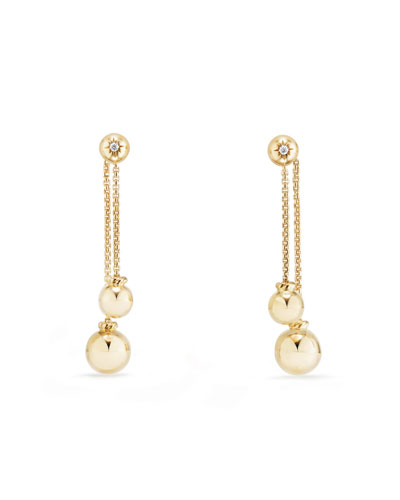 Solari 18K Chain Drop Earrings with Diamonds