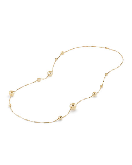 "Solari Long 18K Gold Station Necklace, 34""L"