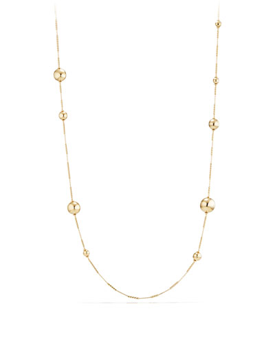 Solari Long 18K Gold Station Necklace, 34