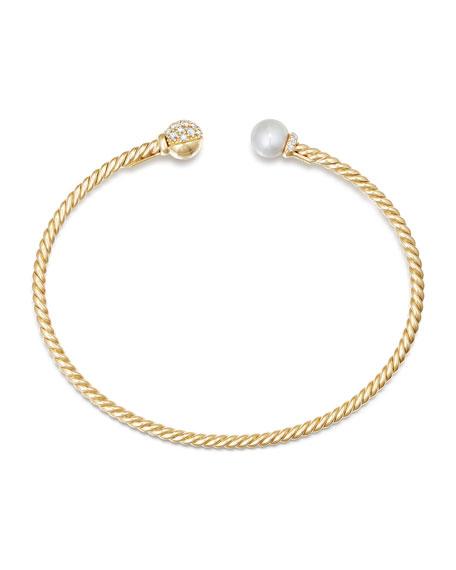 Solari Pearl & Diamond Bracelet, Size S