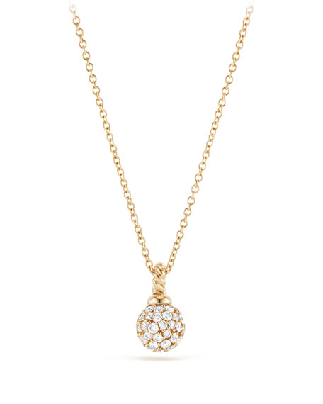 6mm Solari Pavé Diamond Pendant Necklace