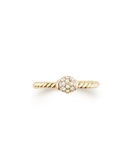 5mm Solari 18K Gold Diamond Station Ring, Size 5
