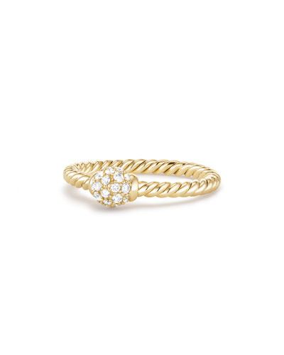 5mm Solari 18K Gold Diamond Station Ring, Size 5