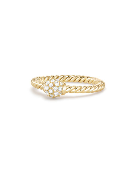 5mm Solari 18K Gold Diamond Station Ring, Size 6