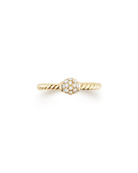 5mm Solari 18K Gold Diamond Station Ring, Size 7