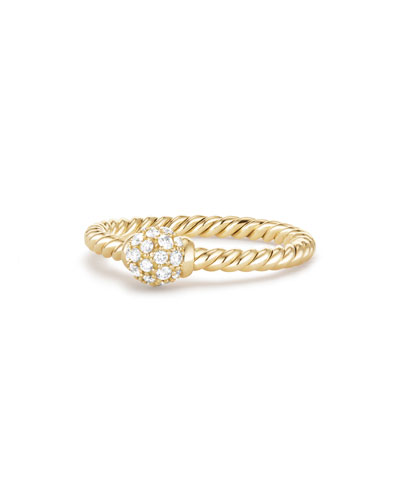 5mm Solari 18K Gold Diamond Station Ring, Size 8