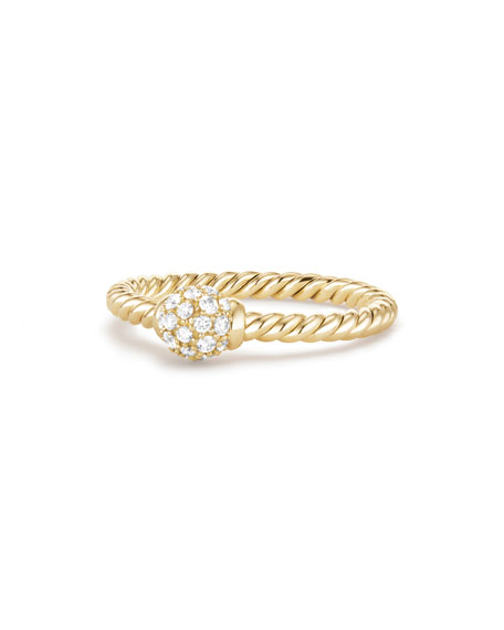 5mm Solari 18K Gold Diamond Station Ring, Size 8