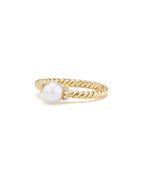 David Yurman Solari Petite 18k Gold Pearl Station
