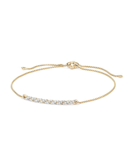 Petite Paveflex 18K Yellow Gold Station Bracelet with Diamonds