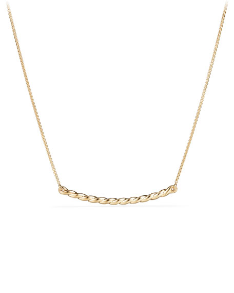 Petite Paveflex 18K Yellow Gold Station Necklace with Diamonds