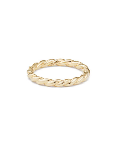 Paveflex 2.7mm Band Ring in 18K Gold, Size 5