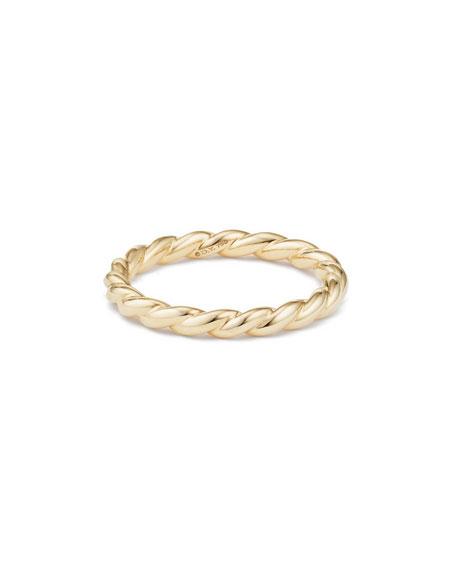 Paveflex 2.7mm Band Ring in 18K Gold, Size 6