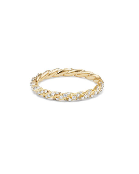 Paveflex 2.7mm Ring with Diamonds in 18K Gold, Size 6
