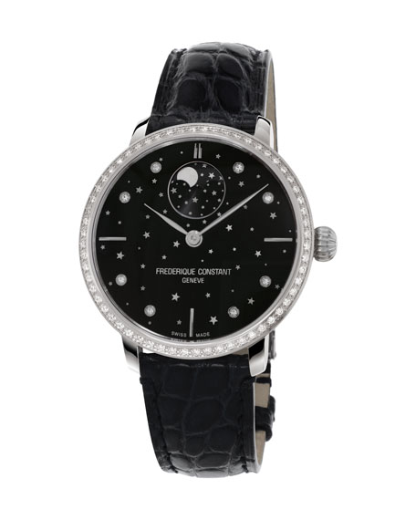 38.8mm Manufacture Slimline Moonphase Watch