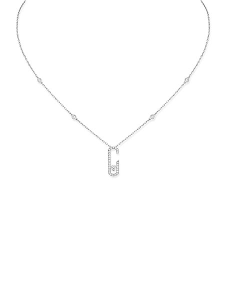 Move Addiction Diamond Necklace in 18K White Gold