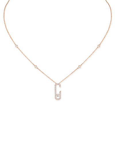 Move Addiction Diamond Necklace in 18K Pink Gold