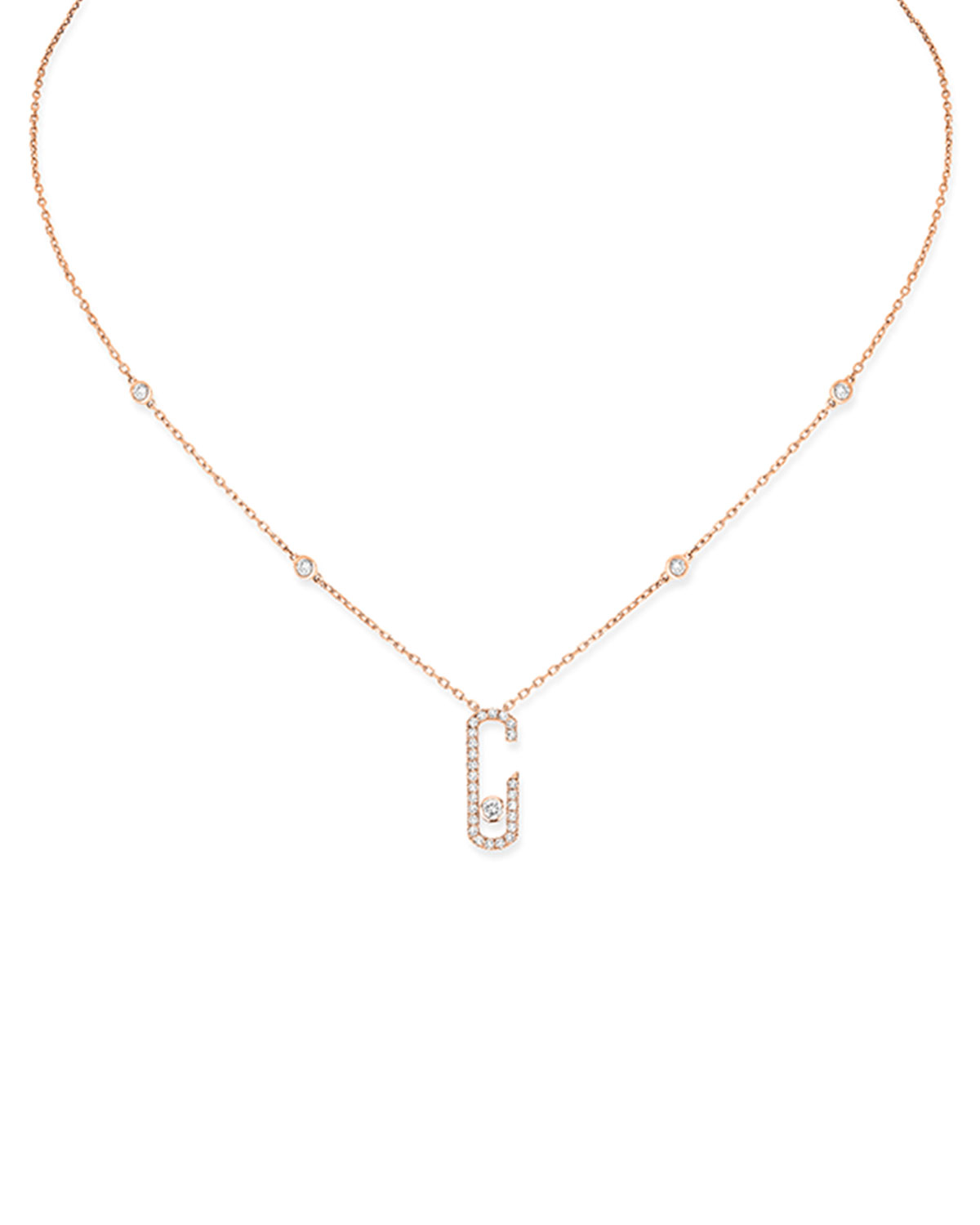 Messika Move Addiction Diamond Necklace in 18K Pink Gold RpAi1N7lp
