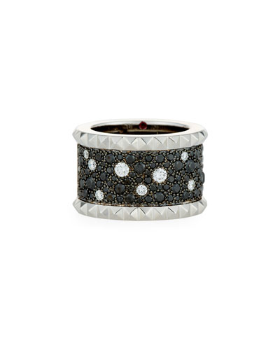 Rock & Diamond Black Diamond Band Ring