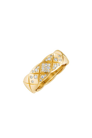 CHANEL COCO CRUSH RING IN 18K YELLOW GOLD & DIAMONDS, SMALL VERSION