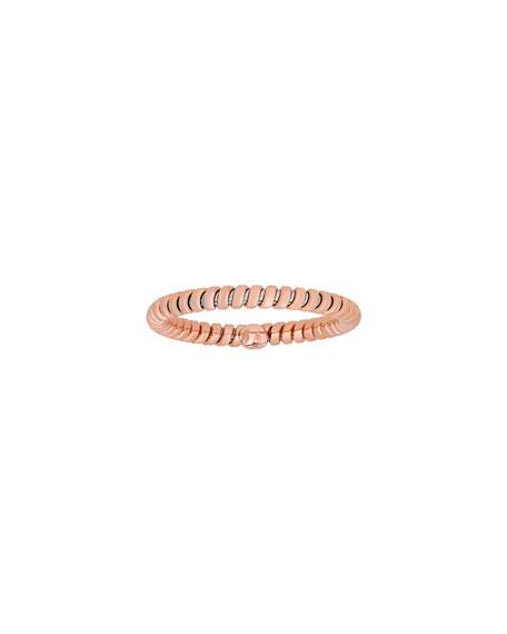 18K Rose Gold Tubogas Band Ring, Size 7