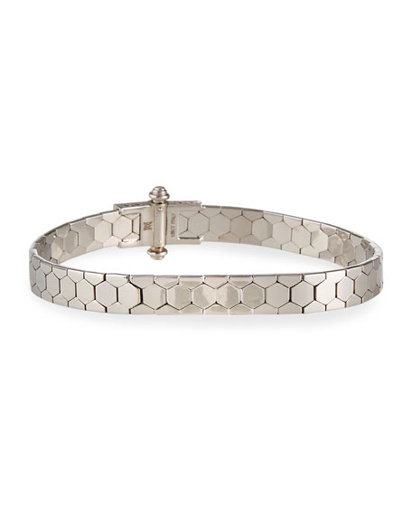 Polygon Bangle Bracelet in 18K White Gold