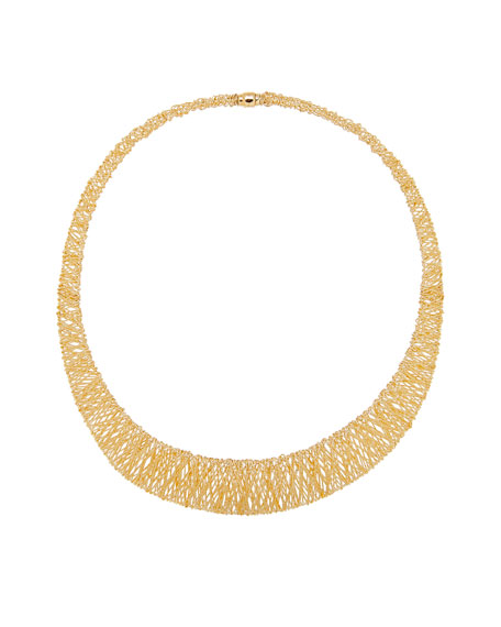 Graduated Mesh Collar Necklace in 18K Gold
