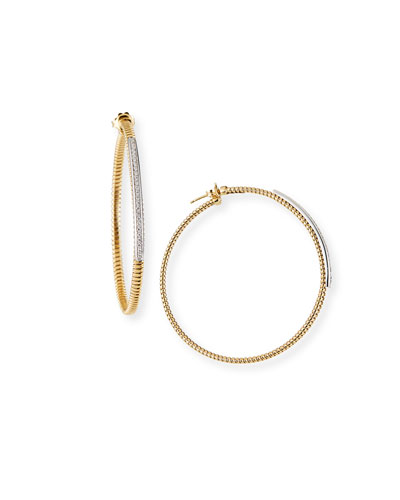 Tubogas Hoop Earrings with Diamonds