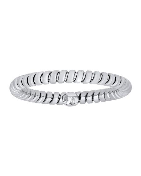 Tubogas 18K White Gold Band Ring, Size 7