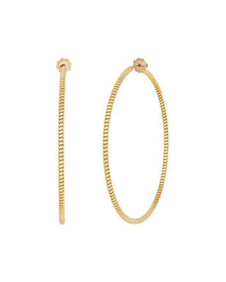 Tubogas 18K Yellow Gold Hoop Earrings