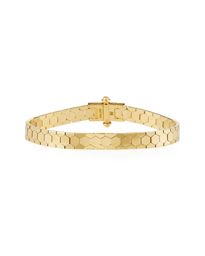 Polygon Bangle Bracelet in 18K Gold