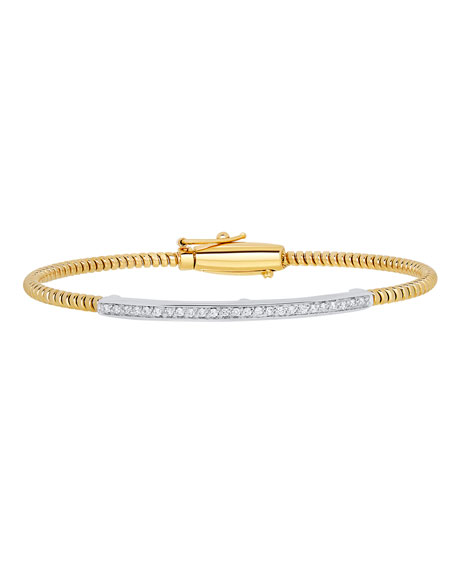 Alberto Milani Tubogas 18K Gold Bracelet with Channel-Set