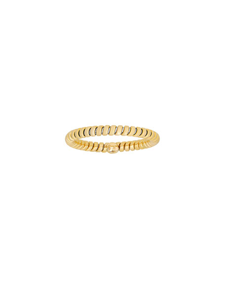 18K Yellow Gold Tubogas Band Ring, Size 7
