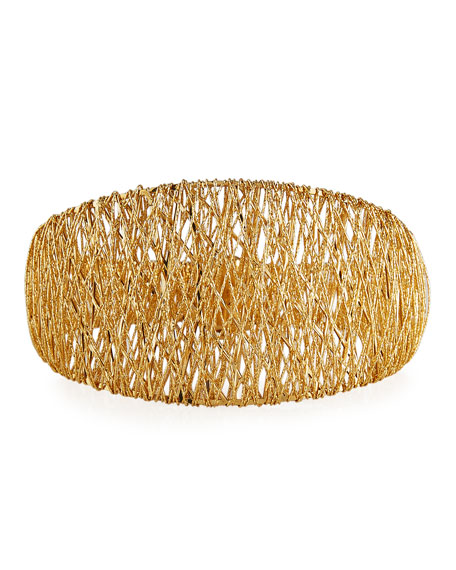 Mesh Bangle Bracelet in 18K Gold